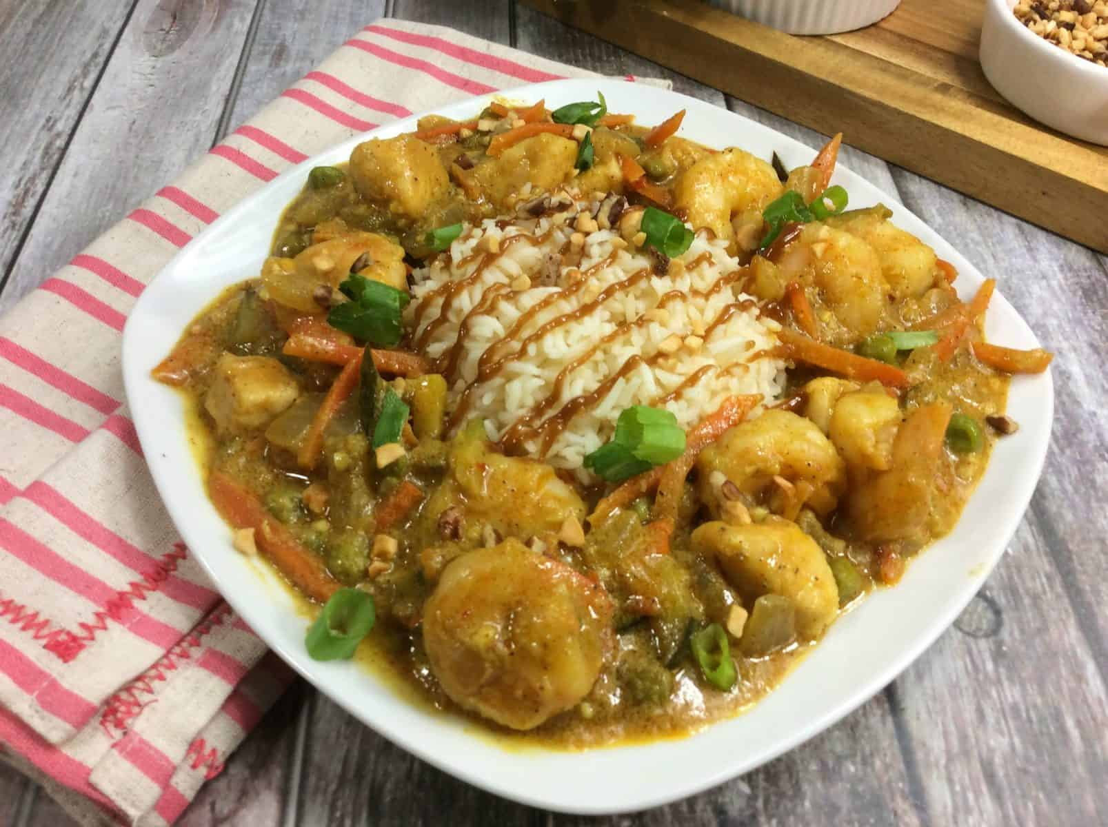 spicy chicken and shrimp, skillet chicken and rice