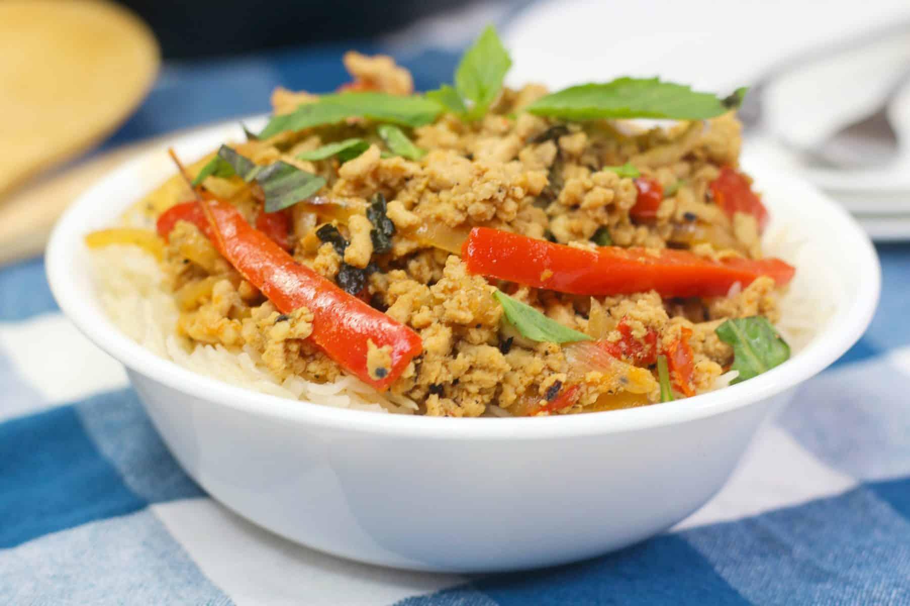 thai chicken recipe, Instant Pot Ground CHicken Recipe