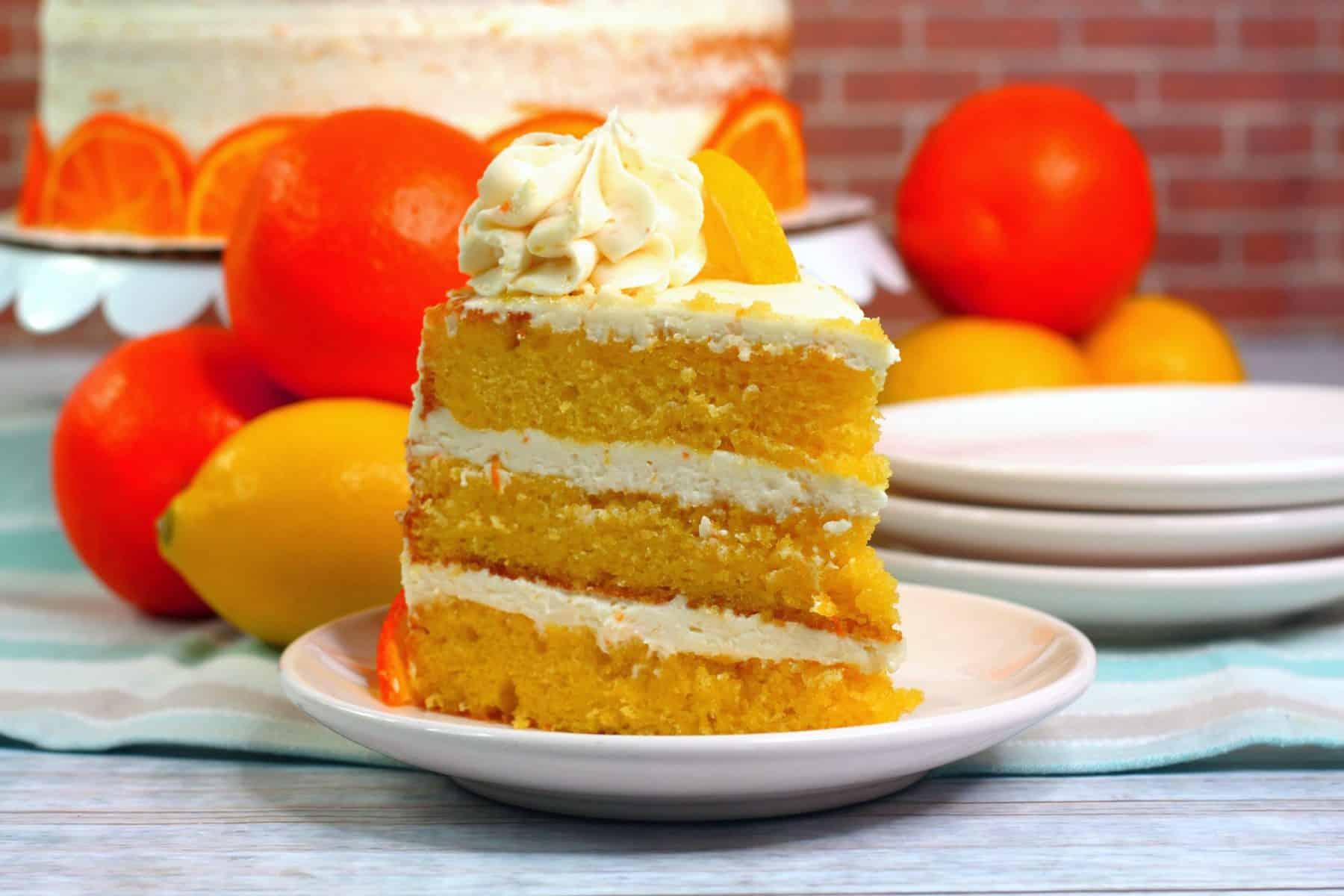 the best orange layered cake, easy lemon Orange Cake