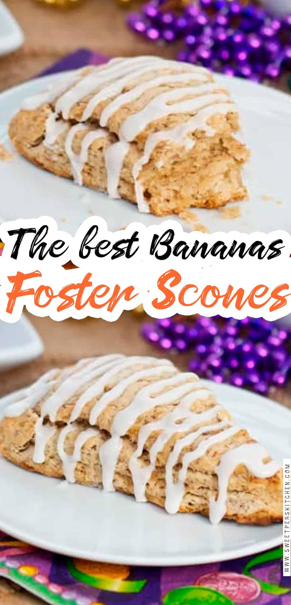 Bananas Foster Scones