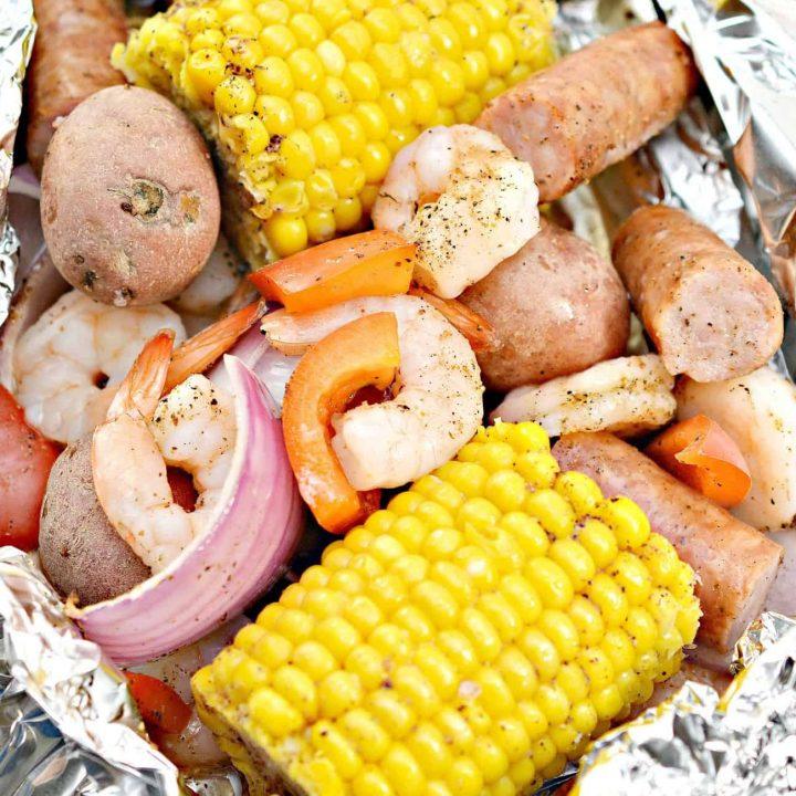 Cajun Shrimp in Foil