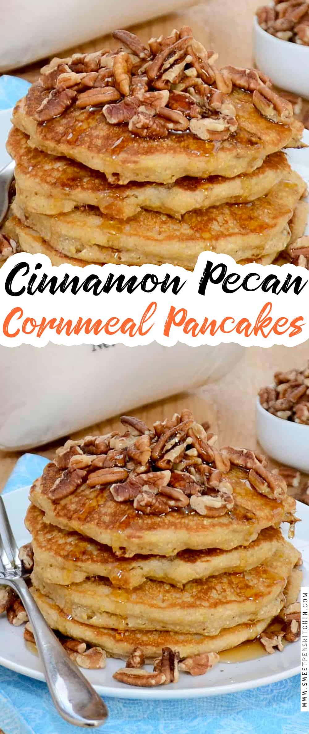 Cinnamon Pecan Cornmeal Pancakes