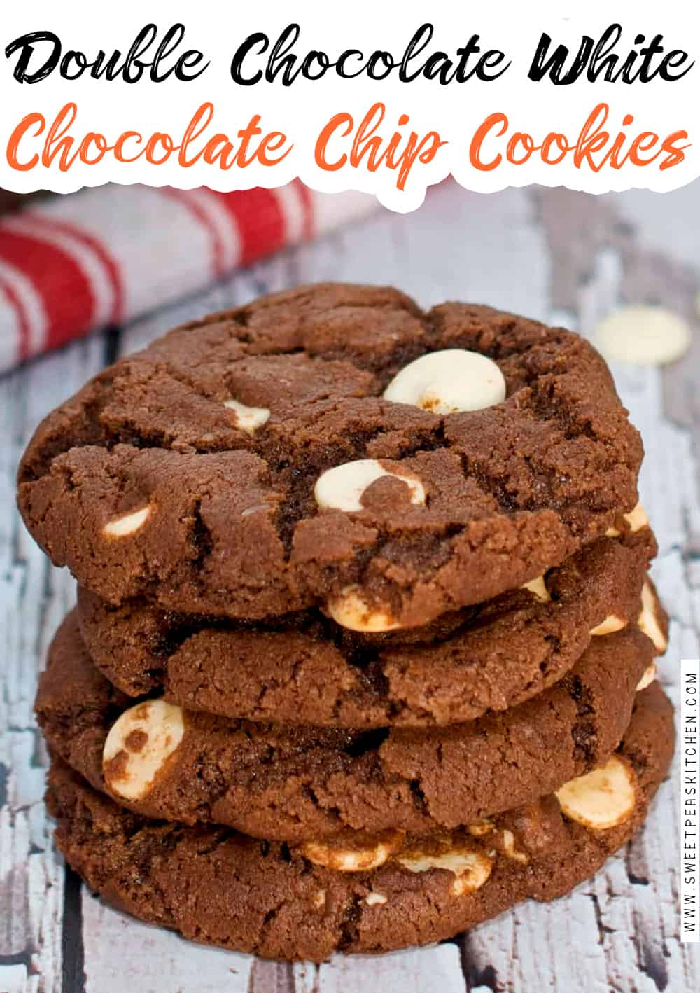 Double Chocolate White Chocolate Chip Cookies