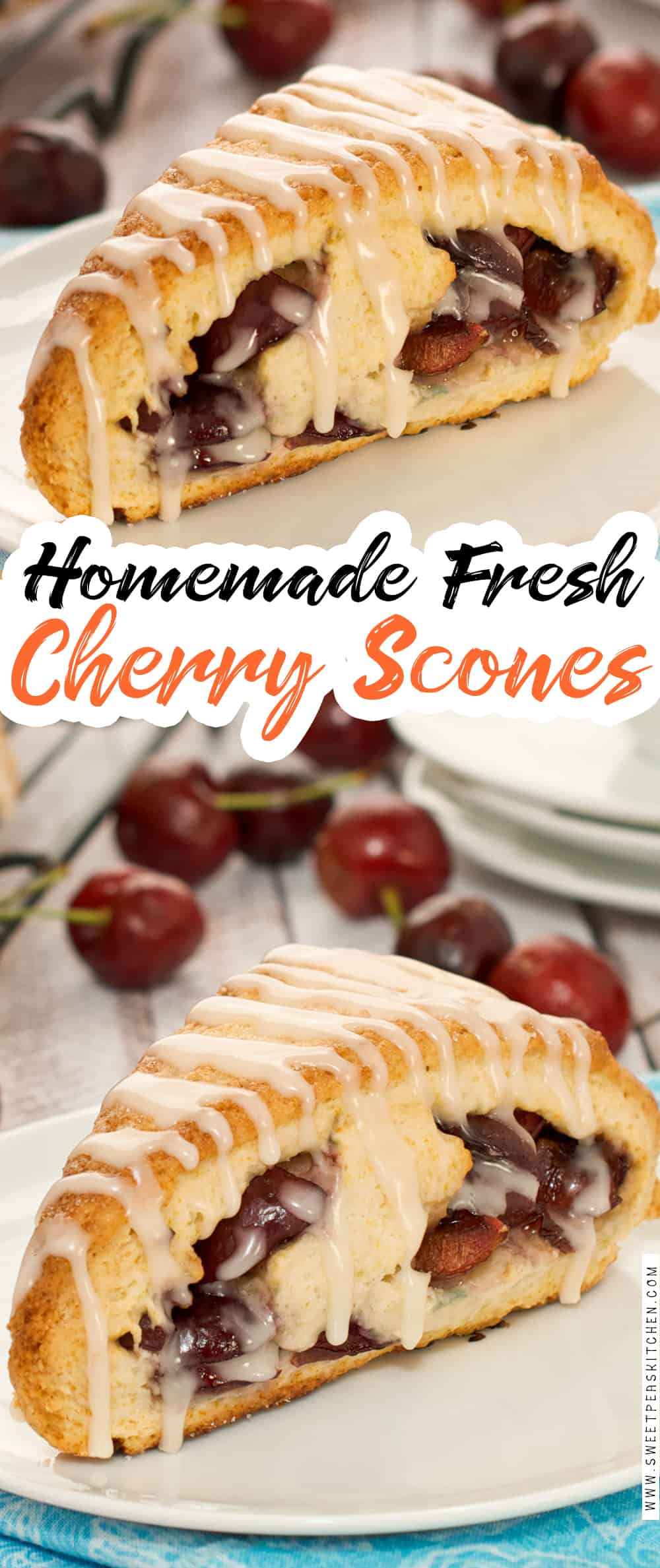 Fresh Cherry Scones