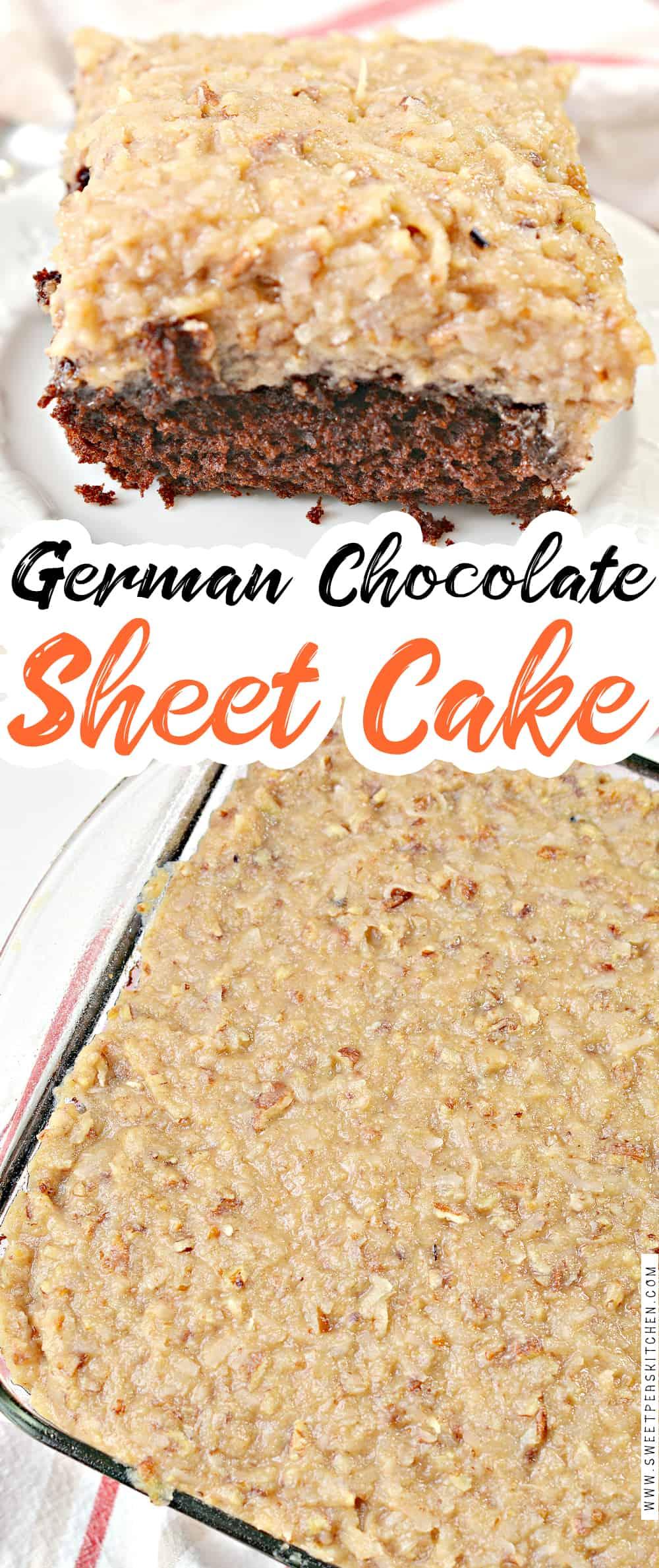 Old Fashioned German Chocolate Sheet Cake