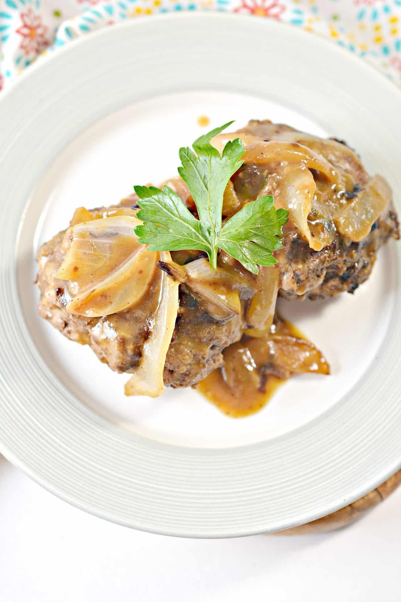 Hamburger Steaks with Onion Gravy