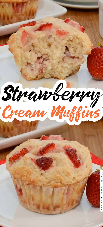 Strawberry Cream Muffins