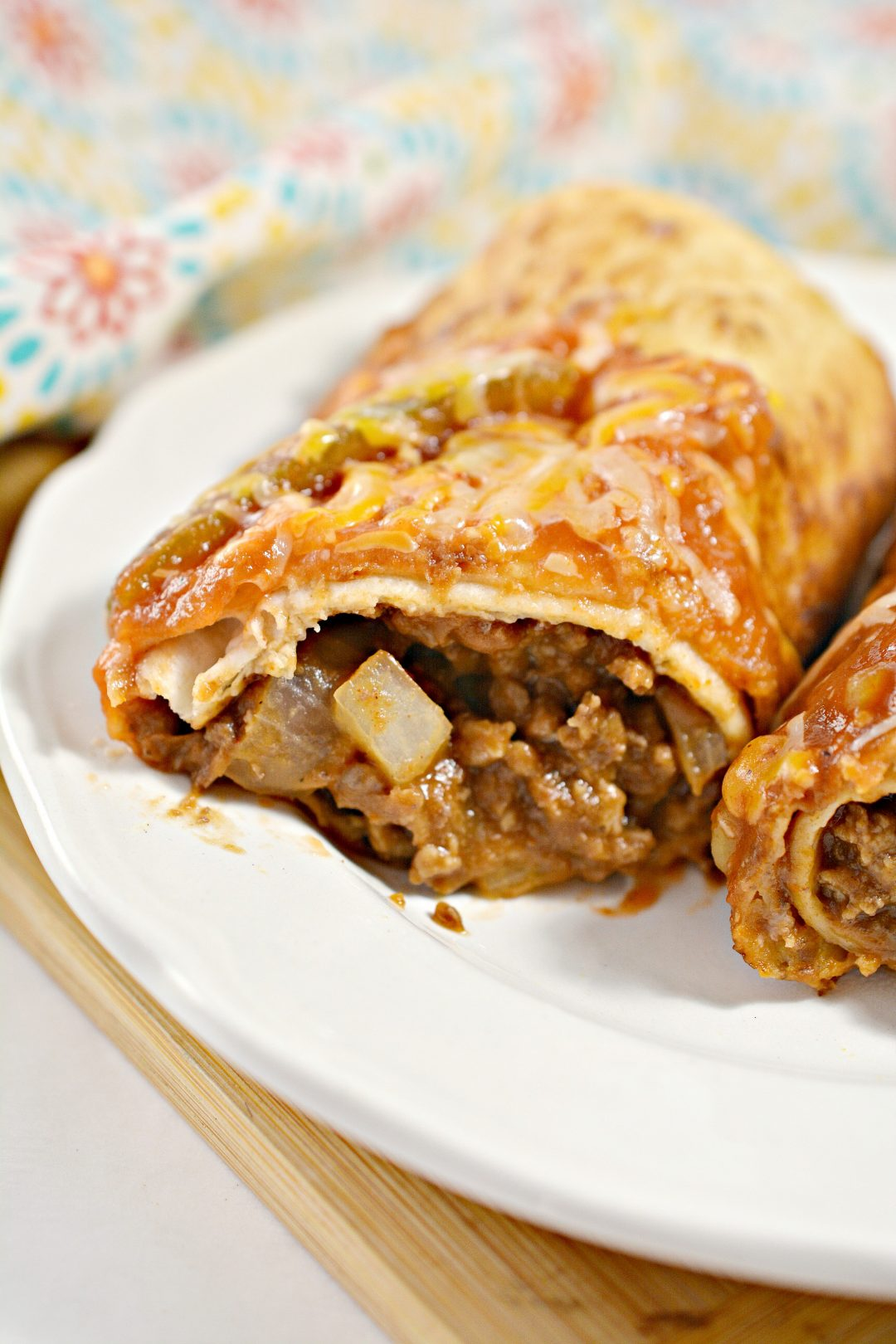 Beef and Cheese Chimichangas