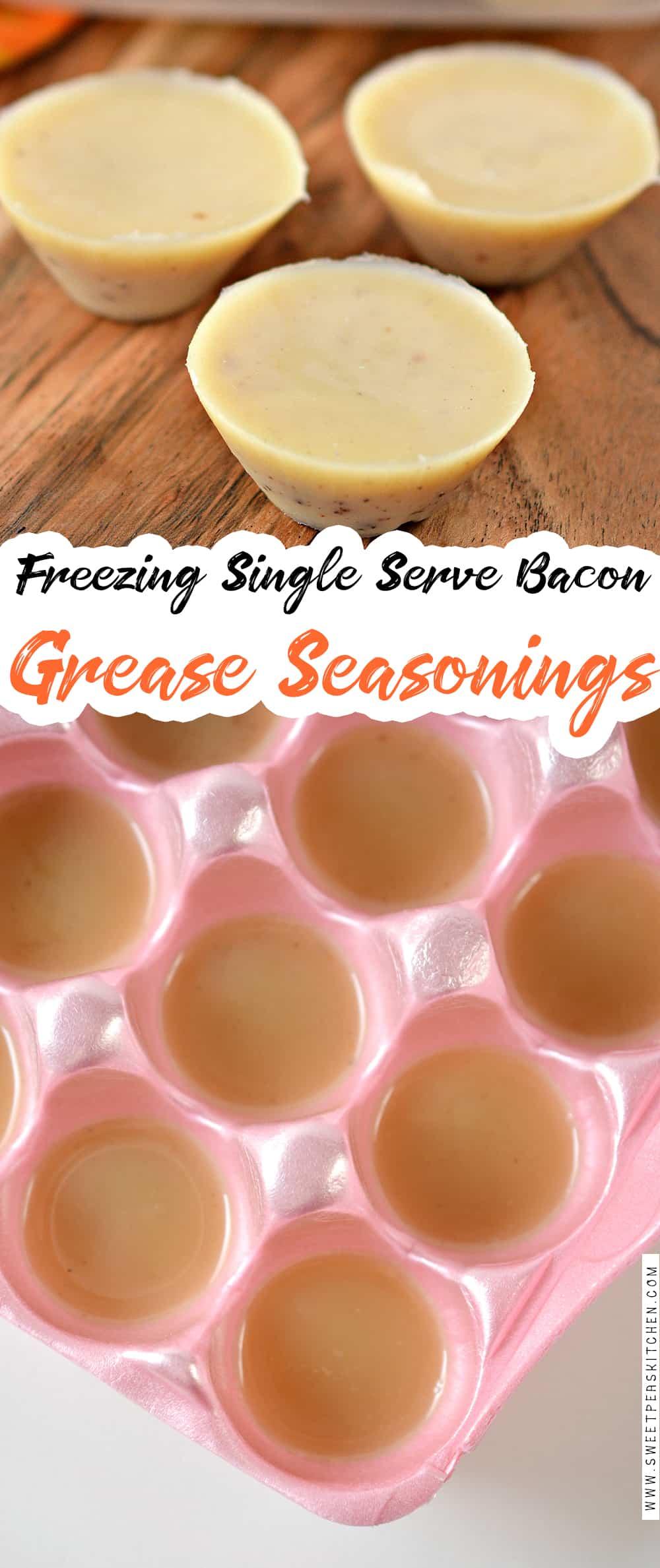Freezing Single Serve Bacon Grease Seasonings