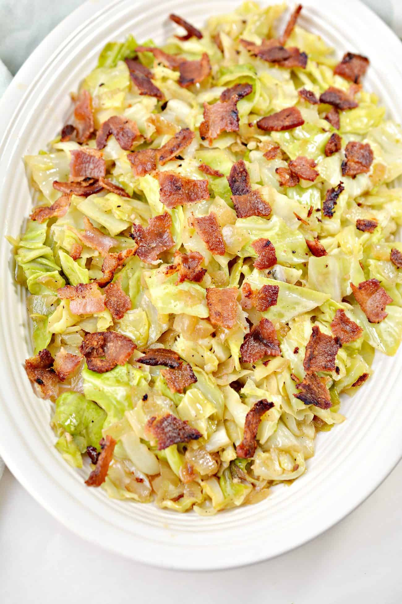 Fried Cabbage with Onions and Bacon