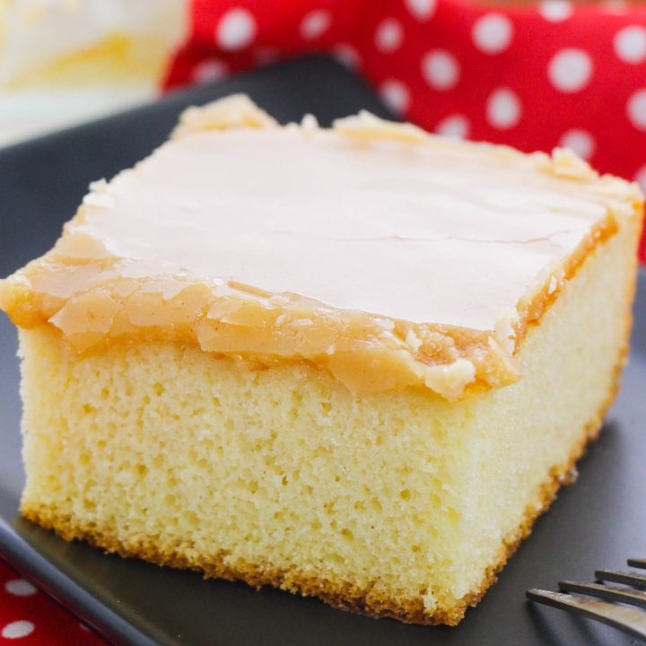 Yellow Cake with Peanut butter Frosting