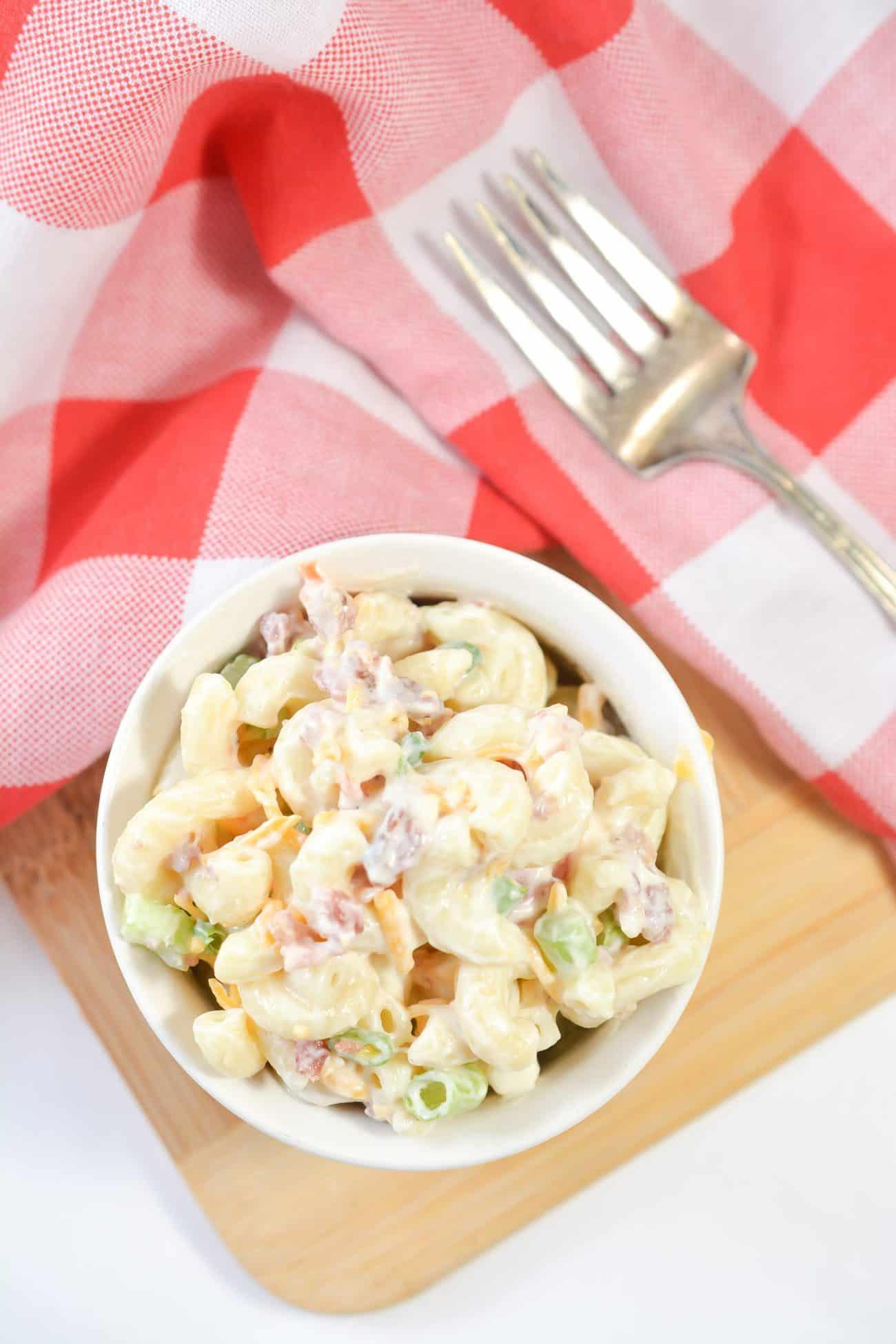 Bacon, Lettuce and Tomato Macaroni Salad
