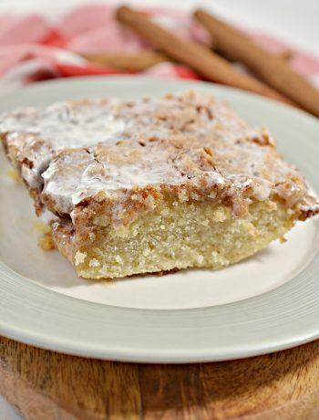 Cinna-bun Cake in the Oven