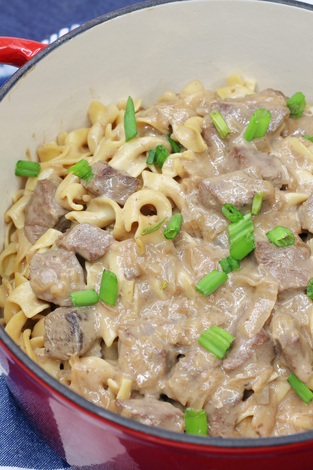 Creamy Beef Tips with Egg Noodles