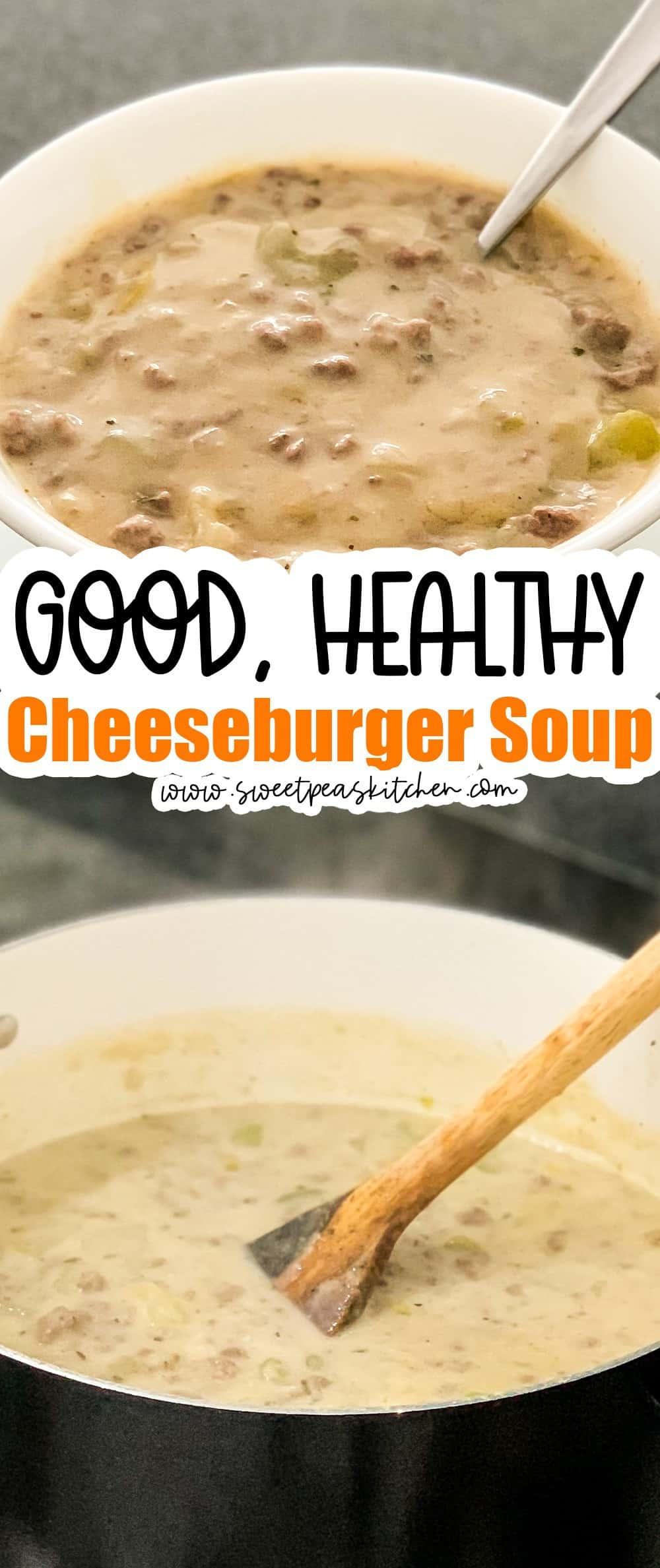 Healthy Cheeseburger Soup Recipe