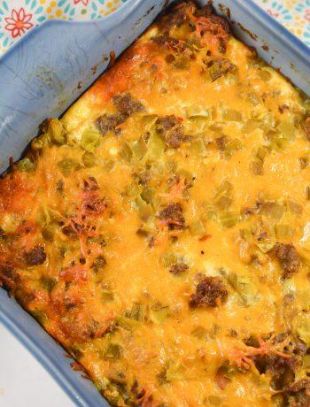 Make Ahead Sausage Hashbrown Casserole