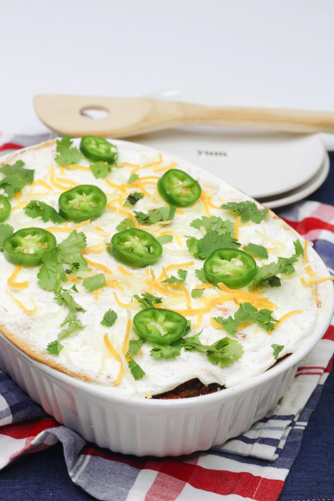 White Sauce Mexican Casserole