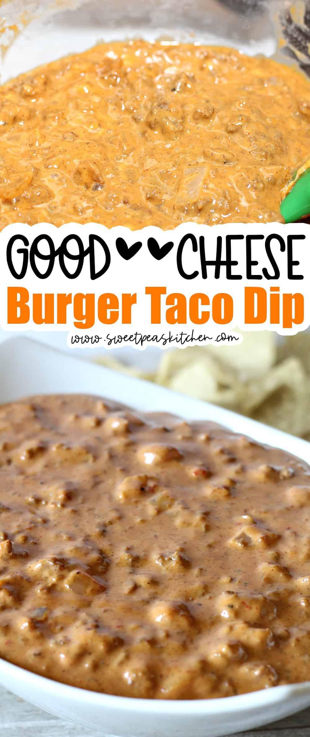 Cheese Burger Taco Dip