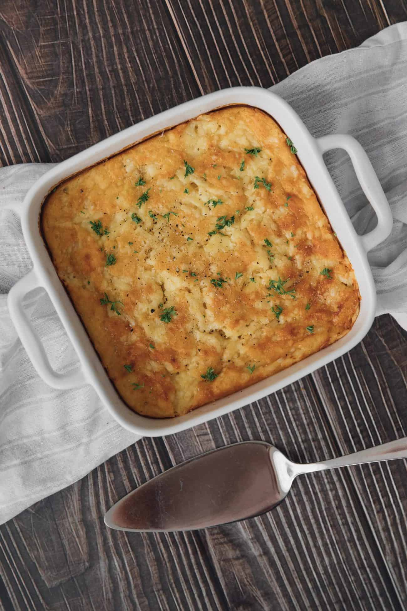 Cheesy, Creamy Cornbread Casserole