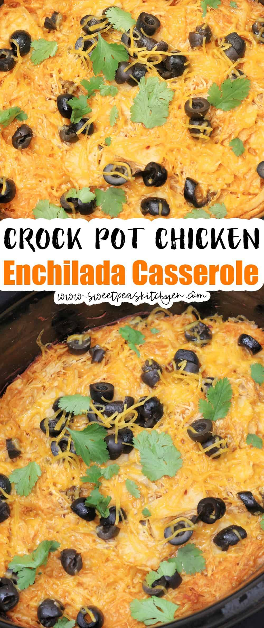 Crock Pot Chicken Enchilada Casserole