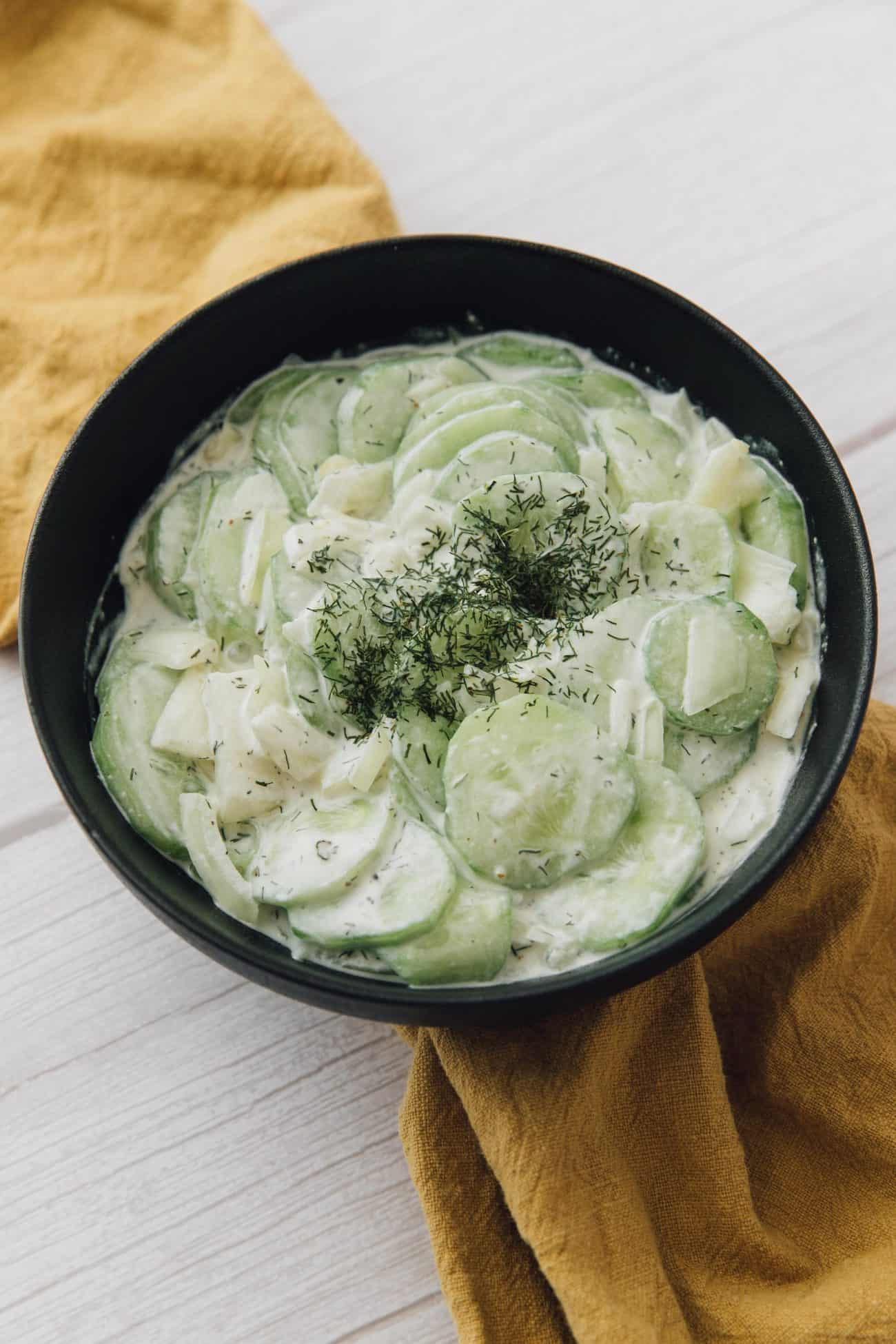 Dad's Creamy Cucumber Salad