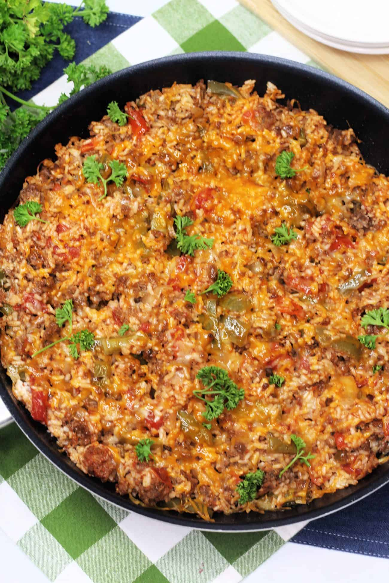 Ground Beef Stuffed Pepper Skillet