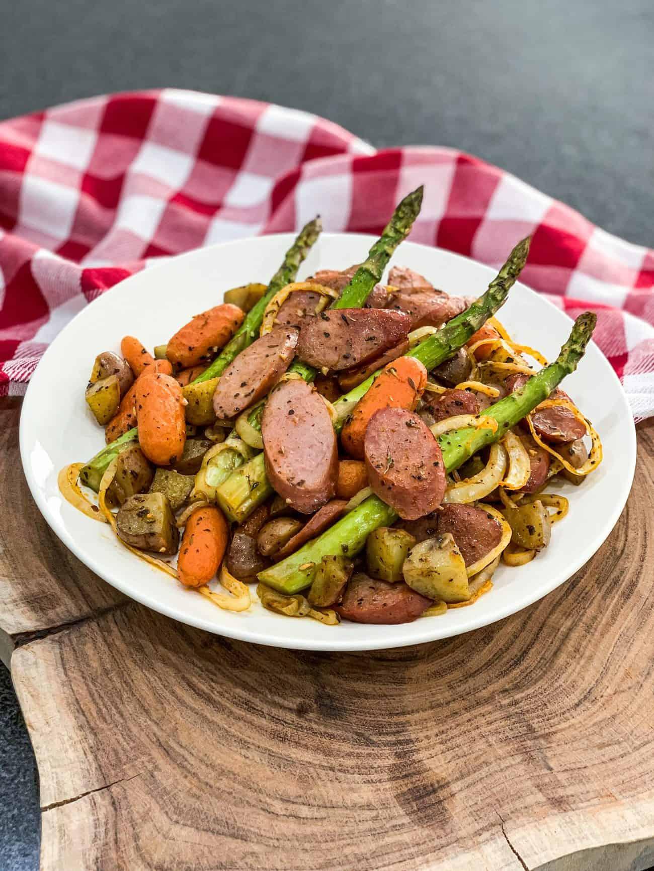 Kielbasa Veggie Sheet Pan Dinner