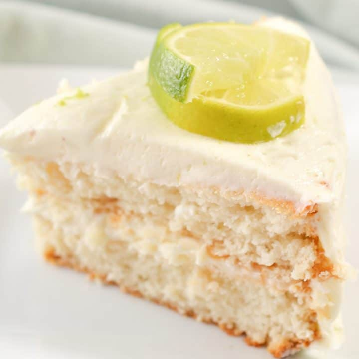 Margarita Cake with Key Lime Cream Cheese Frosting