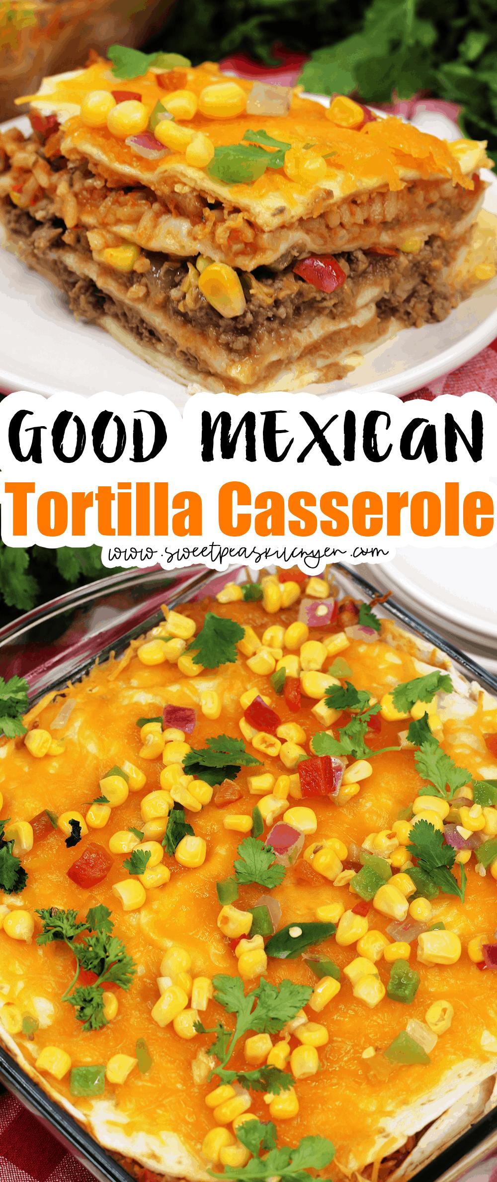 Layered Mexican Tortilla Casserole