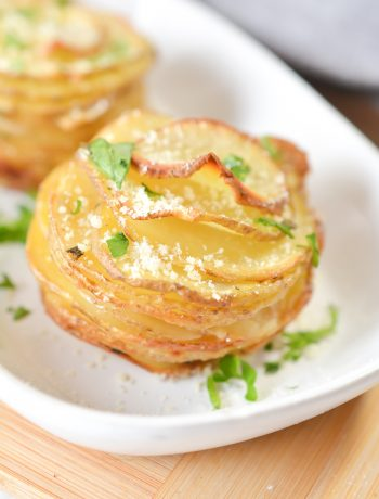 Sliced Potatoes in a Muffin Tin