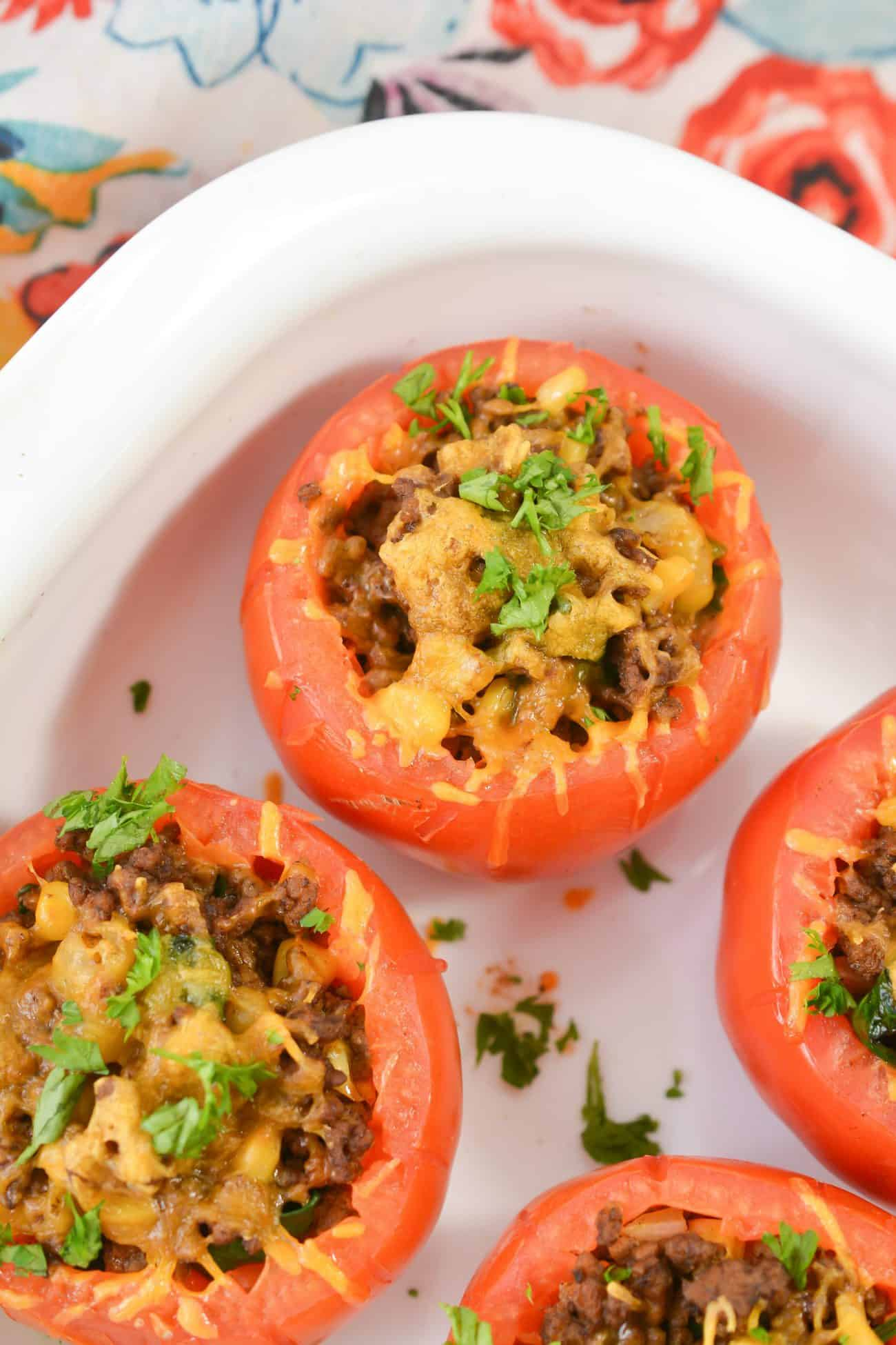 Taco stuffed tomatoes