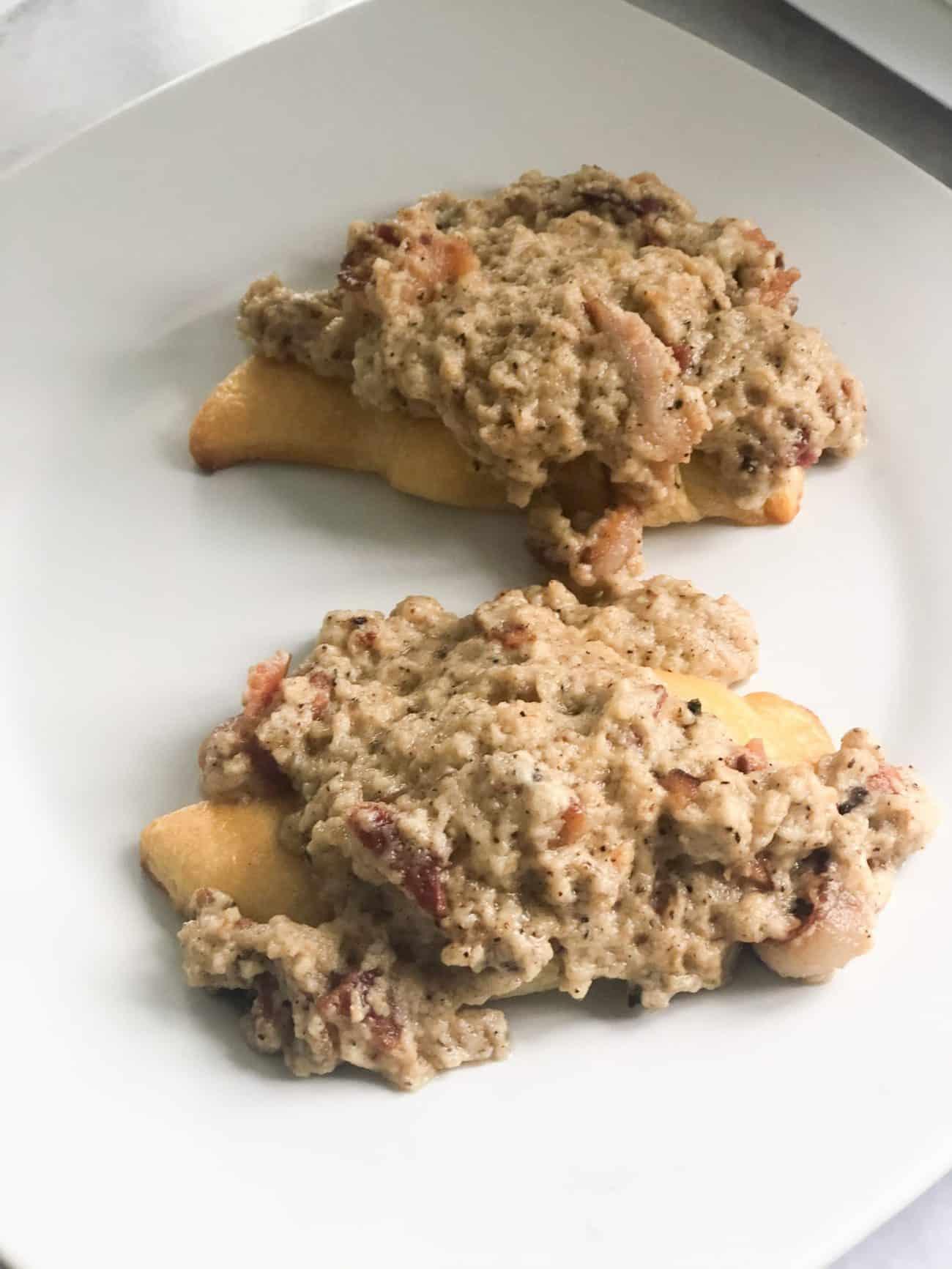 The Best Bacon Gravy for Croissants