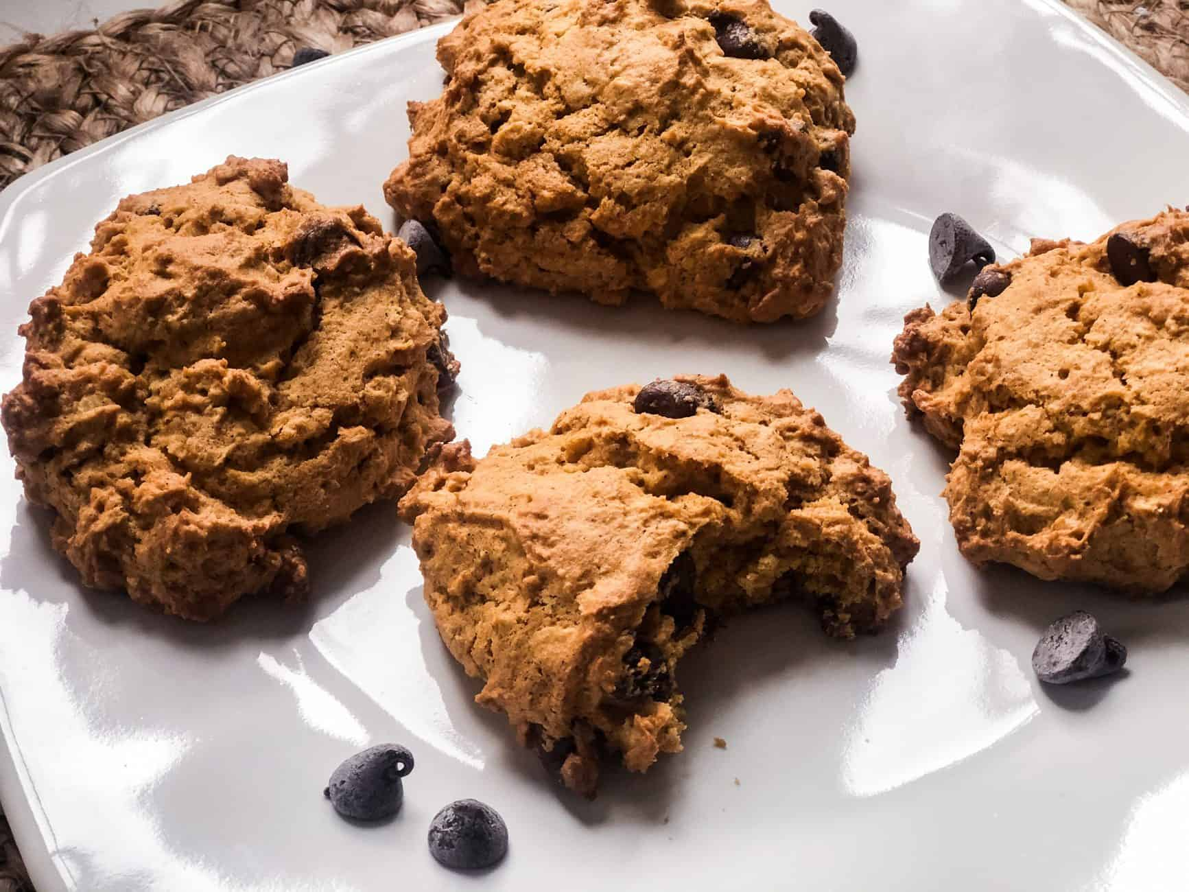 The BEST Pumpkin Oatmeal Chocolate Chip Cookies