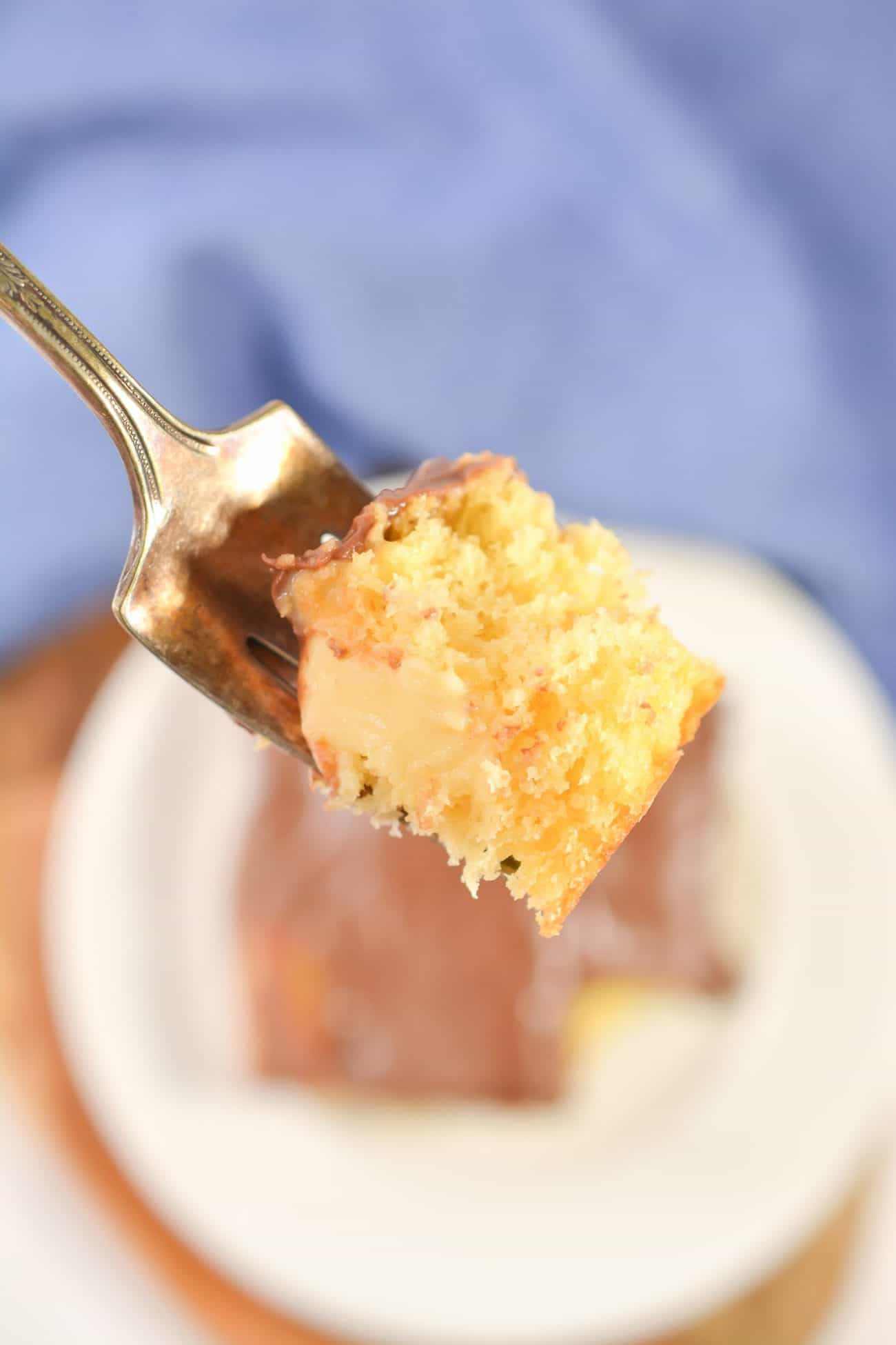 Boston Cream Poke Cake C
