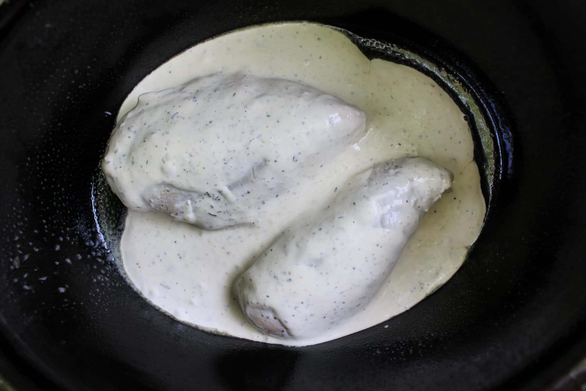 Crock Pot Caesar Bacon Chicken