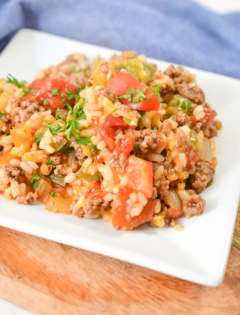 Ground beef and peppers skillet