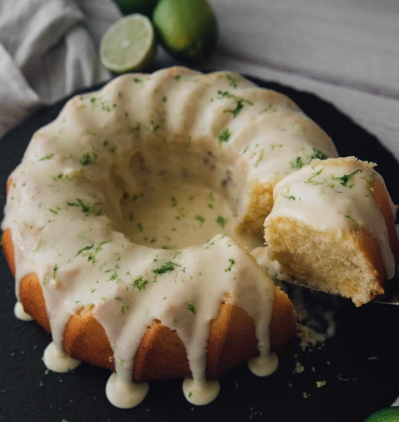 Key Lime Pound Cake with Key Lime Cream Cheese Icingrecipe