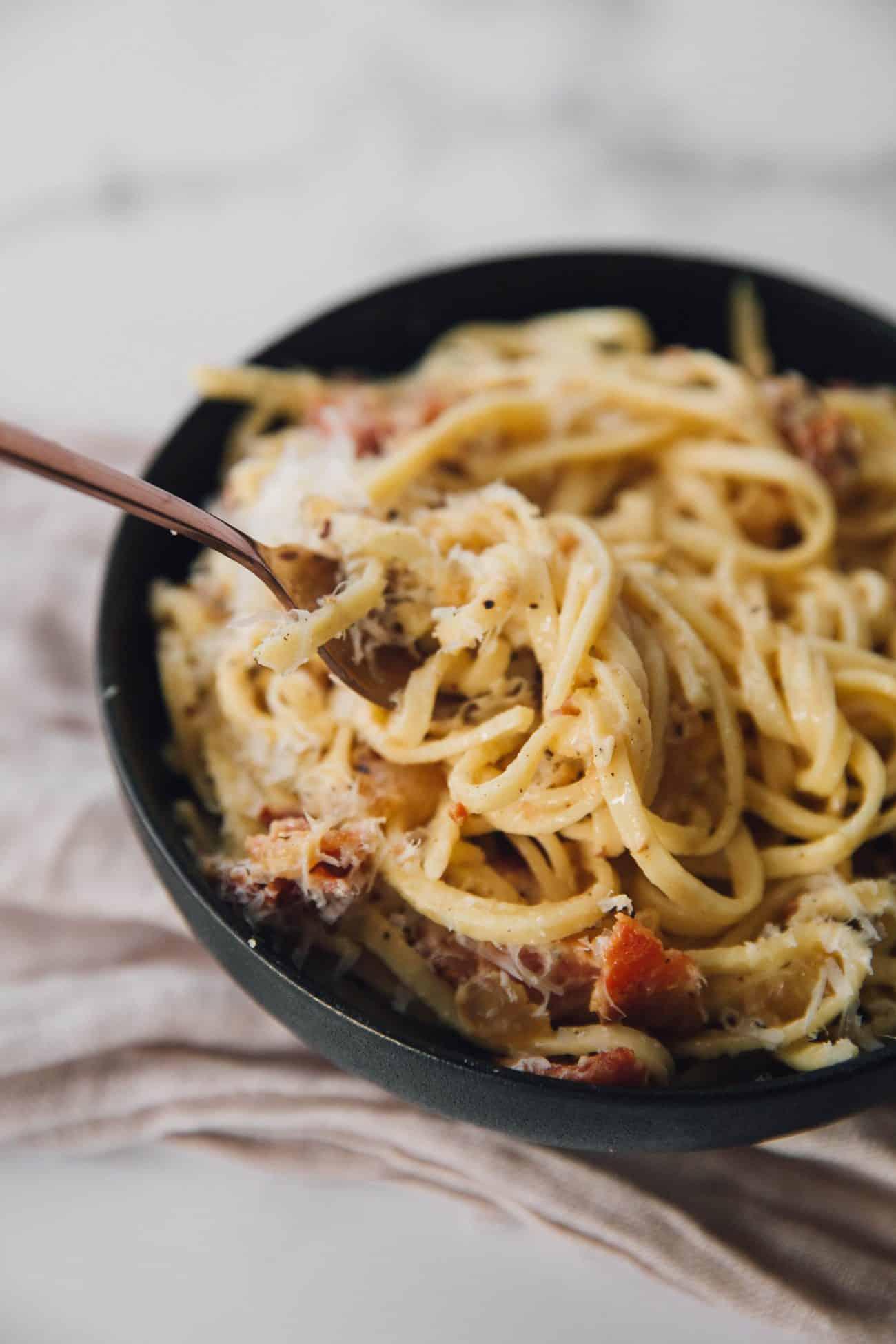 Italian Carbonara with Bacon