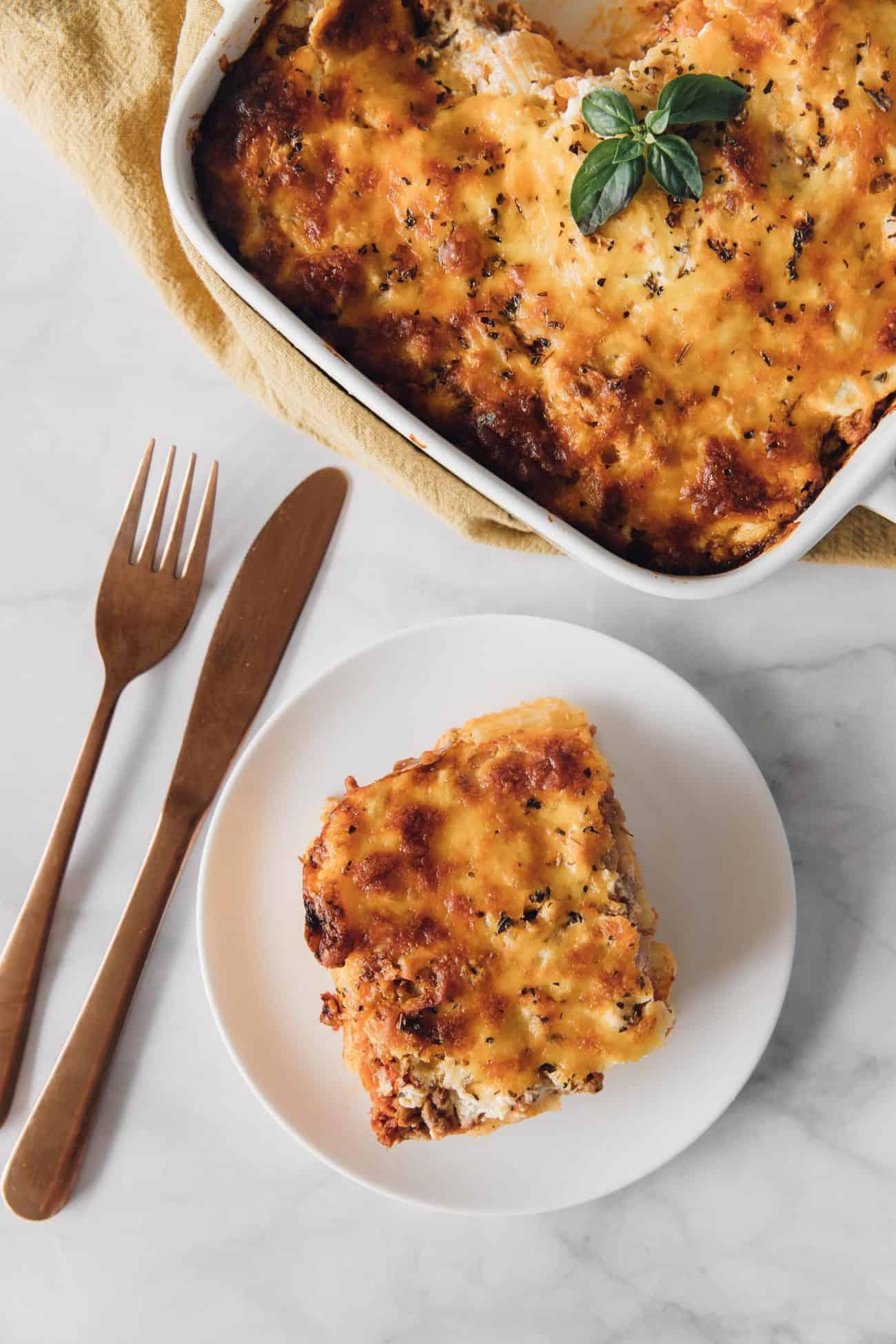 Italian Rigatoni Pasta Bake