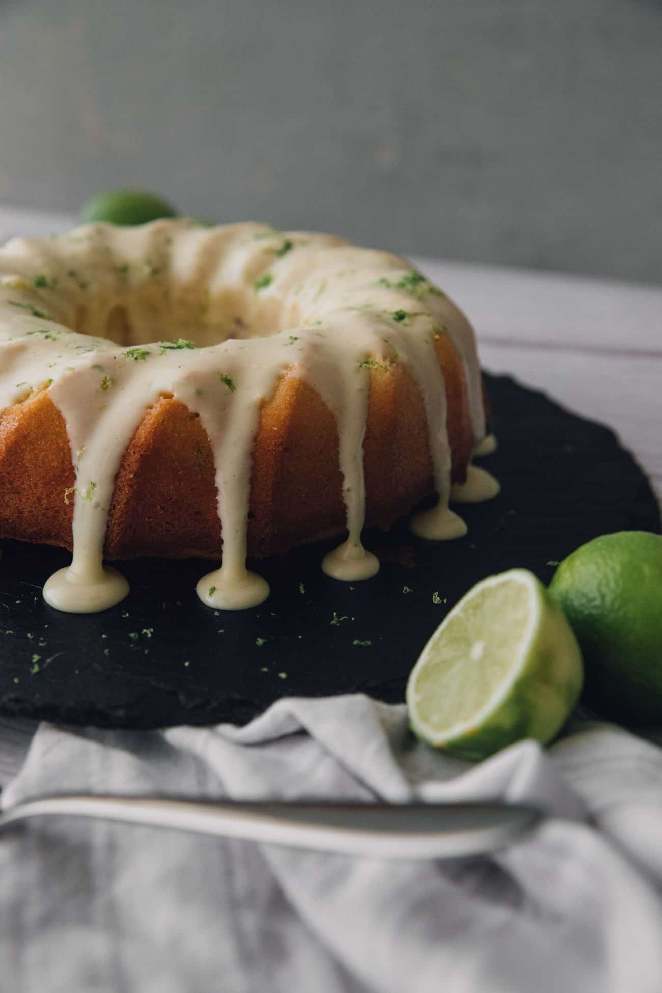 Key Lime Pound Cake with Key Lime Cream Cheese Icing