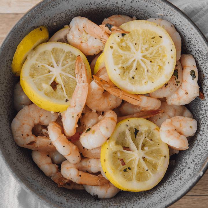 Lemon Butter Baked Shrimp