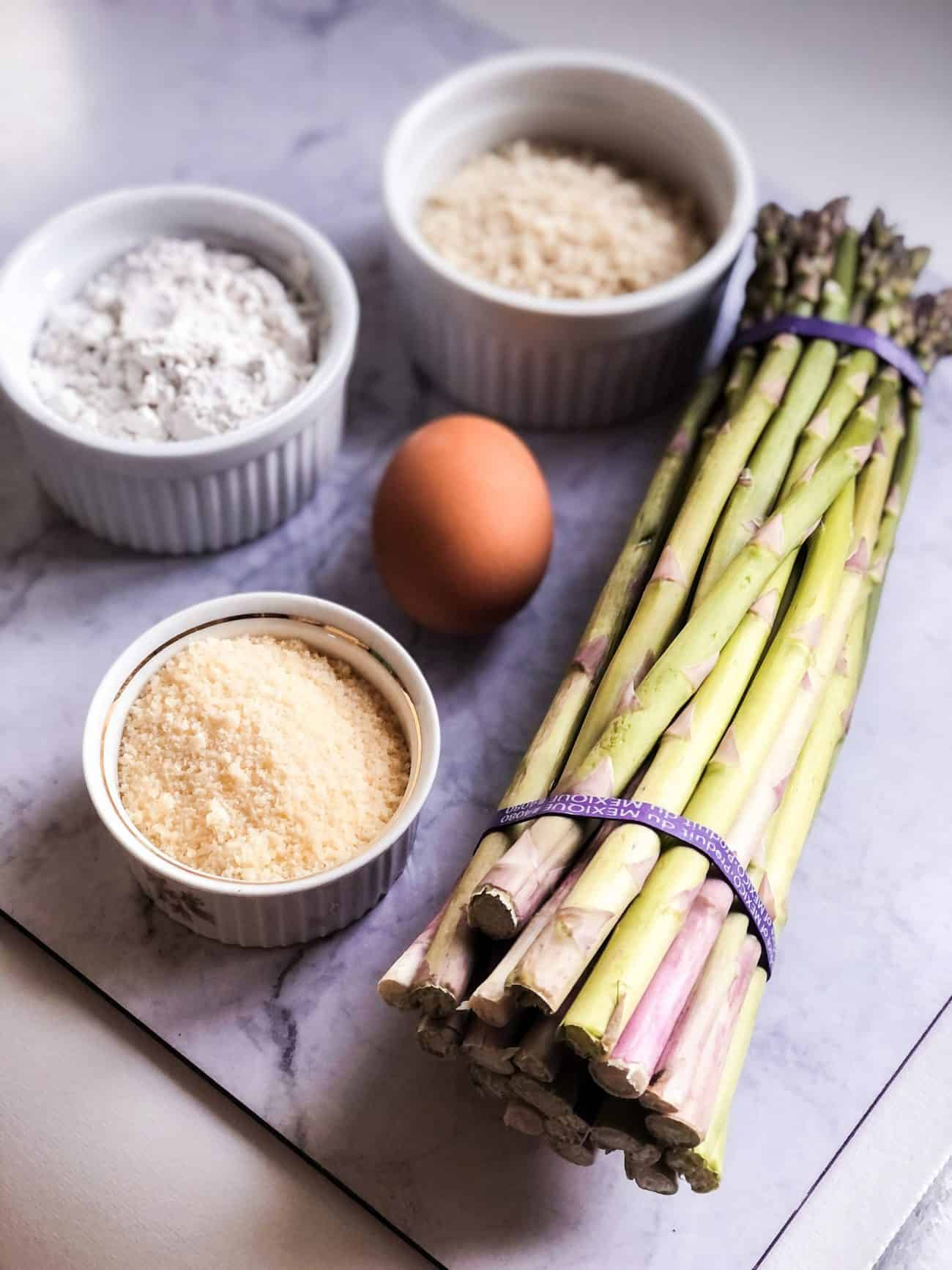 Parmesan Crusted Asparagus Fries