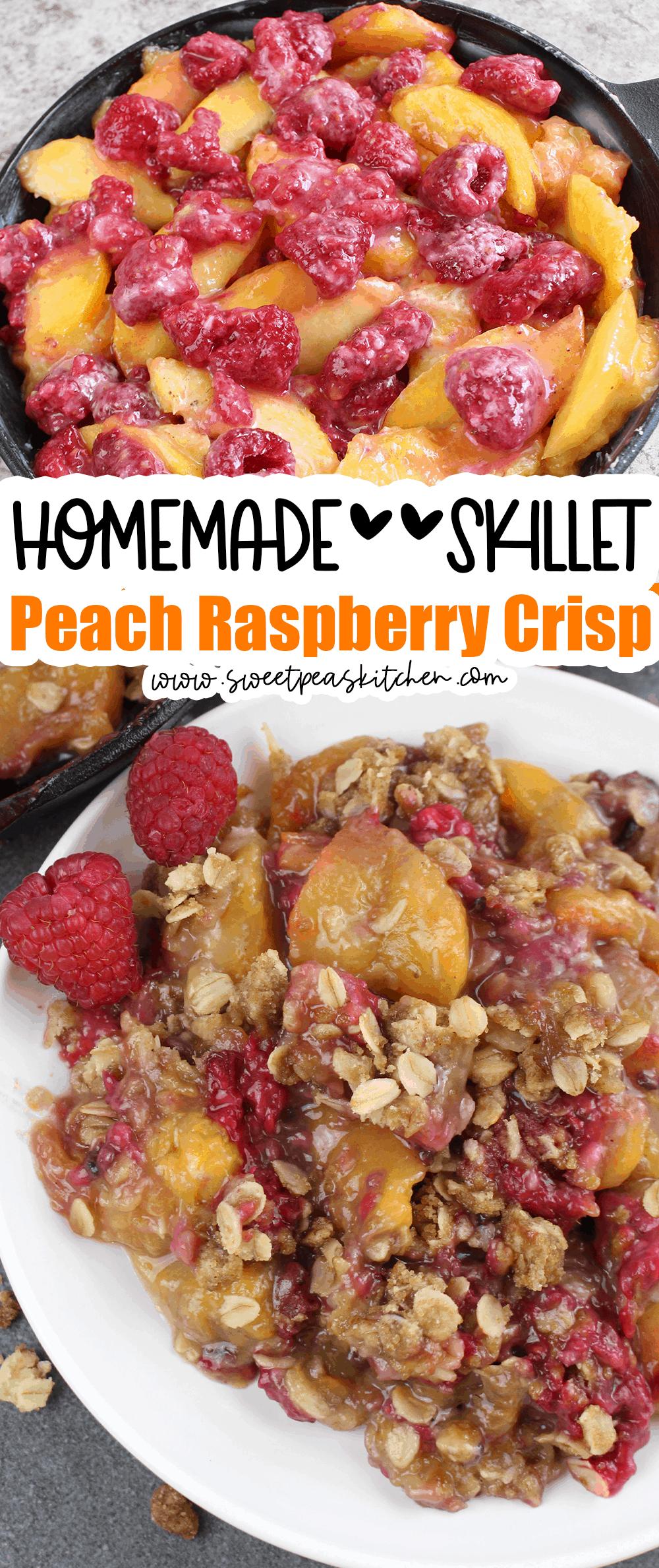 Skillet Peach Raspberry Crisp