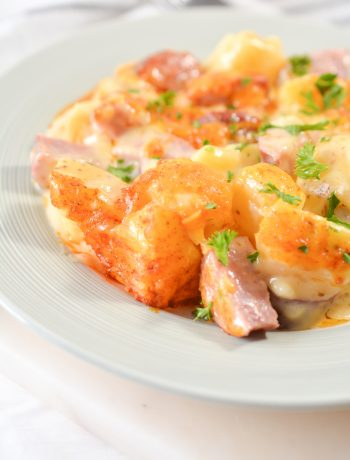 Cheese, Potato and Smoked Sausage Casserole