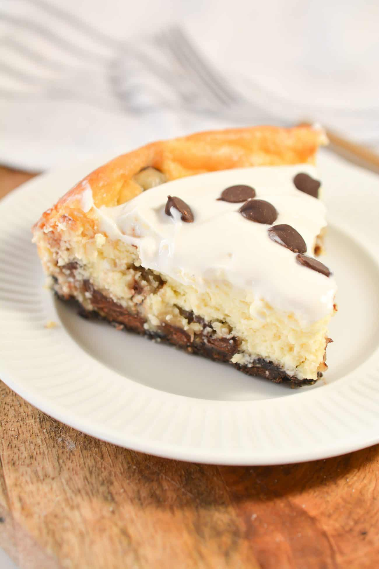 Chocolate Chip Cookie Dough Cheesecake