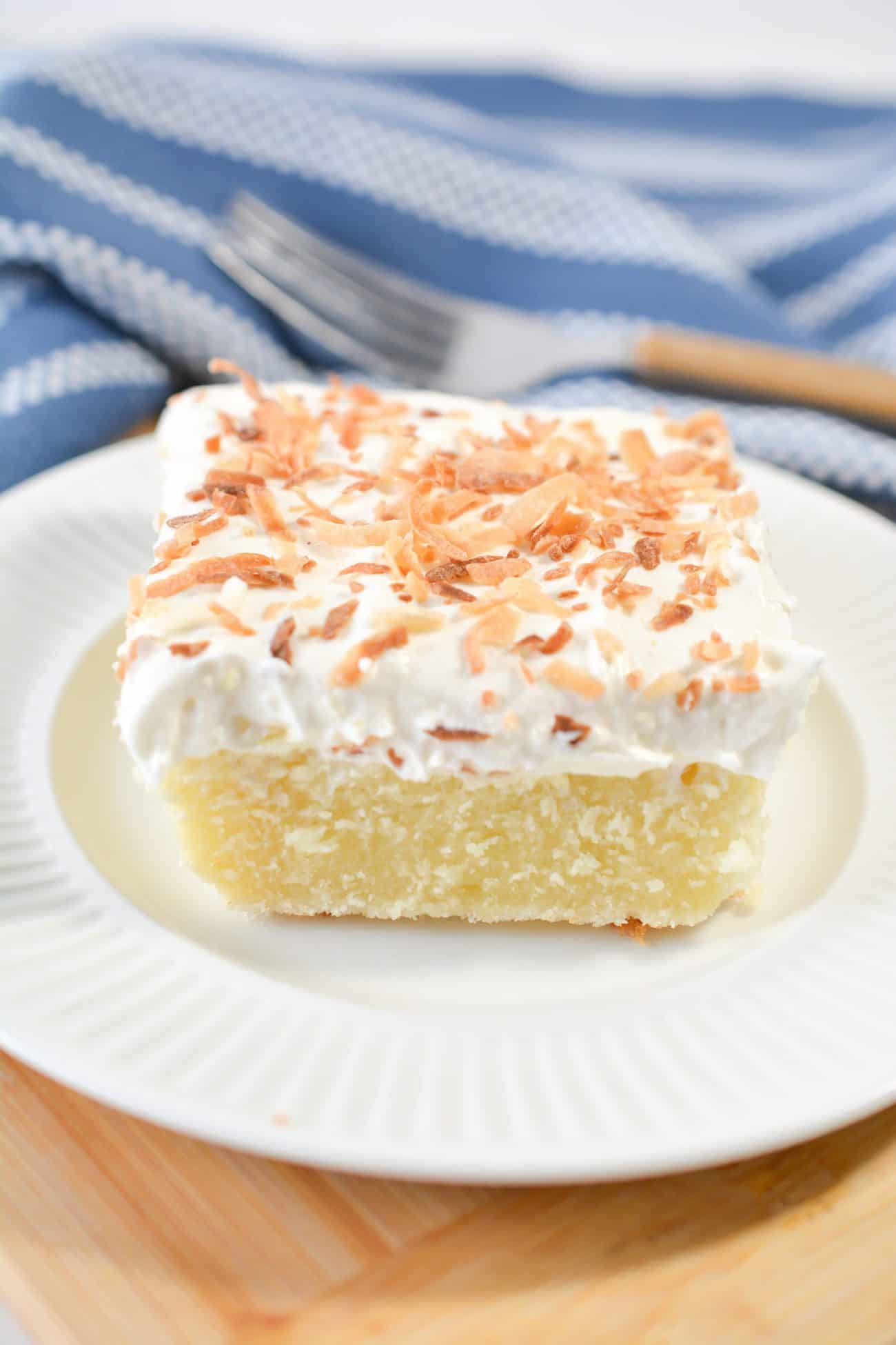 Coconut Topped Cream Cheese Sheet Cake