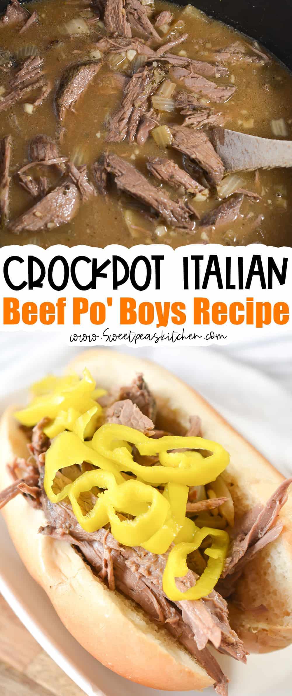 Crockpot Italian Beef Po' Boys