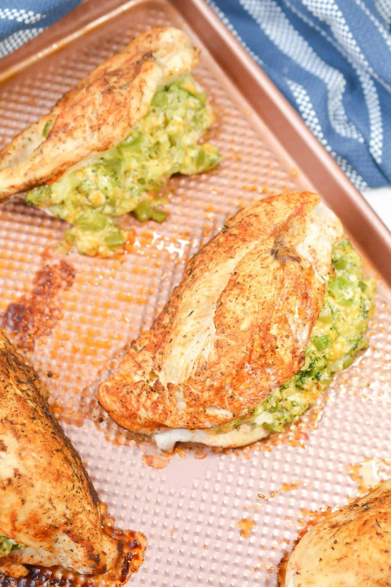 Cheesy Broccoli Stuffed Chicken Breast
