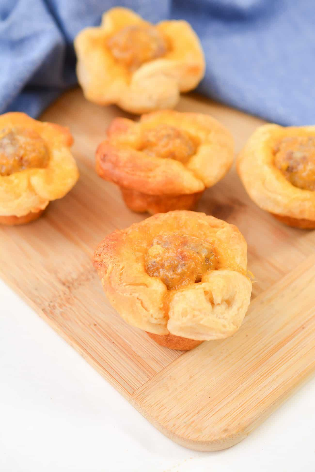 Easy Cheesy Sausage Biscuit Bites