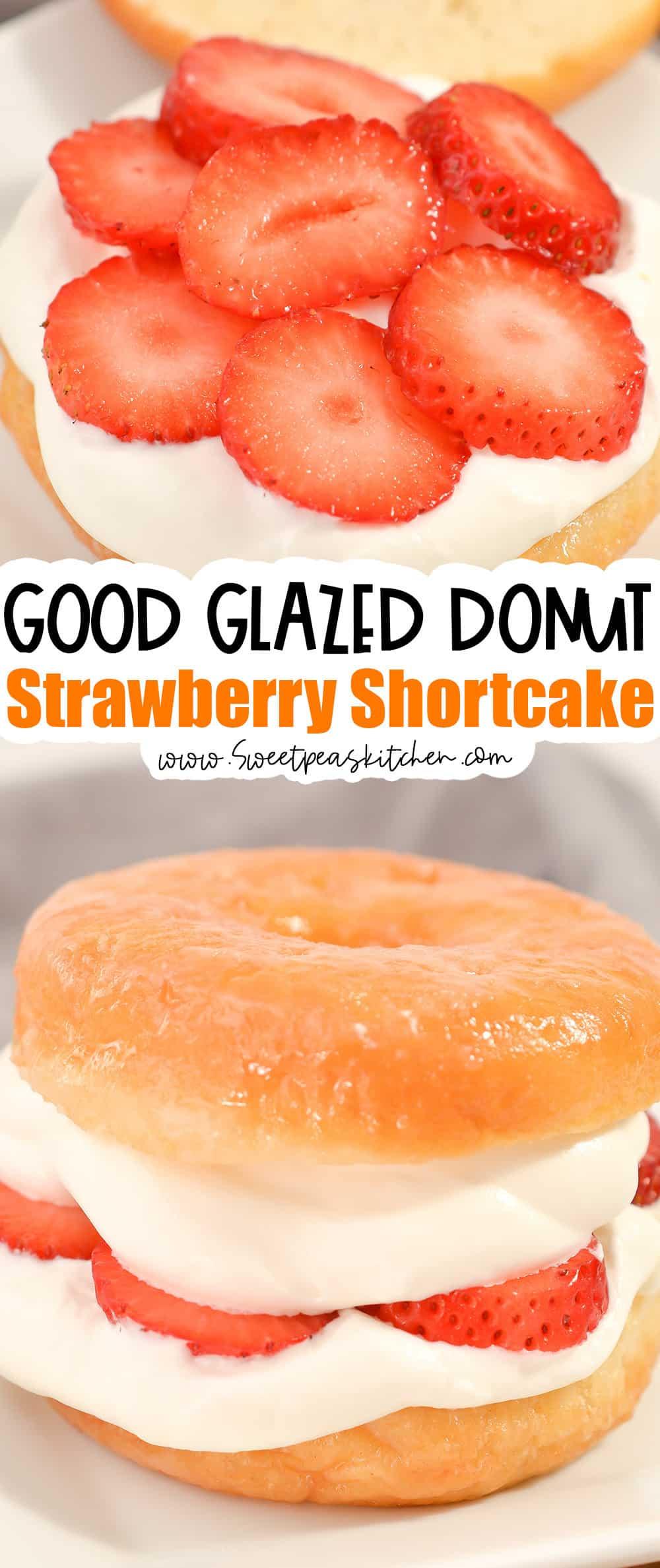 Glazed Donut Strawberry Shortcake